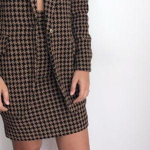 Vintage Giuseppe houndstooth knit pencil skirt 2